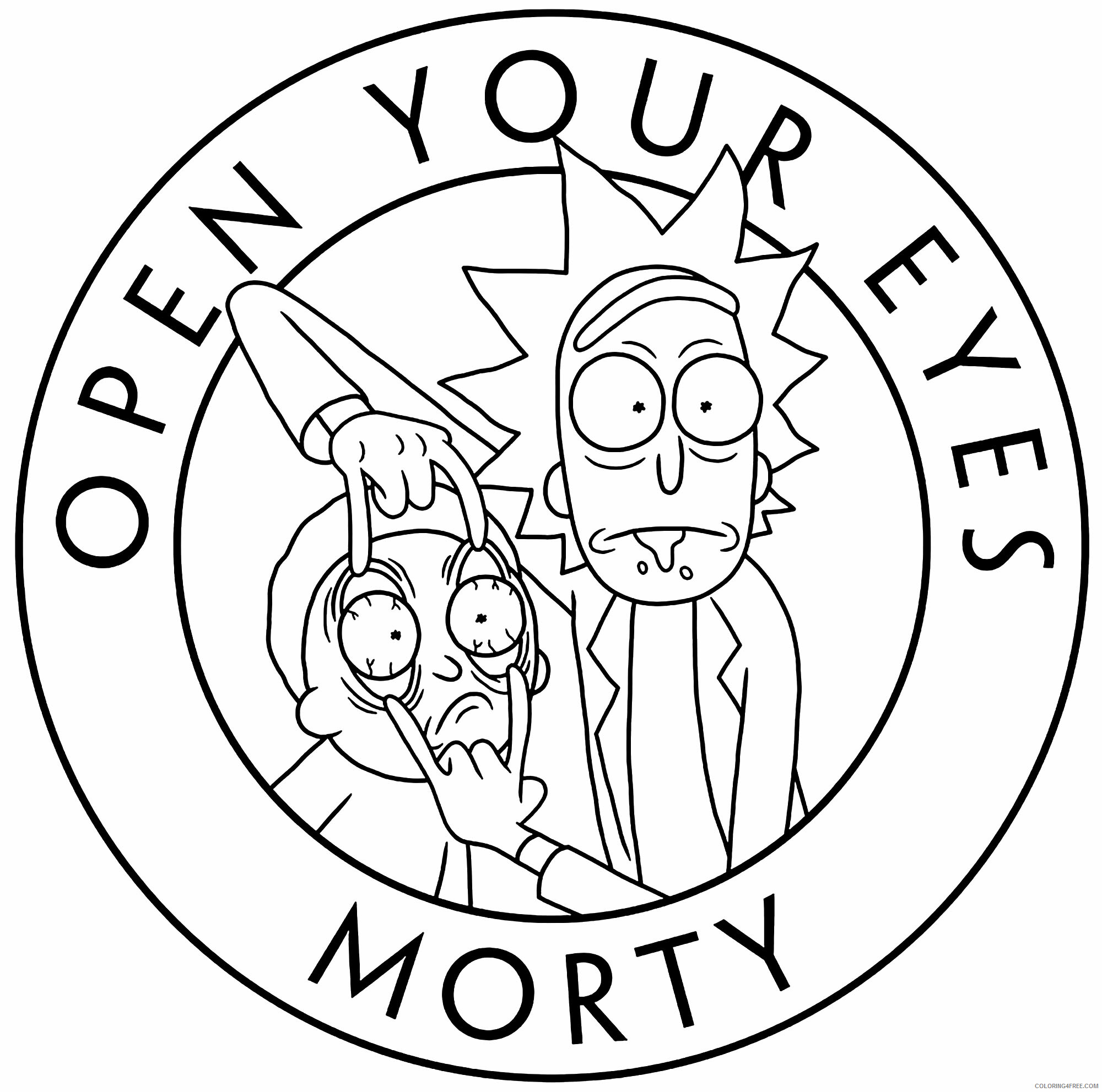 Eyes Coloring Pages for Kids Open Your Eyes Morty Printable 2021 186 Coloring4free