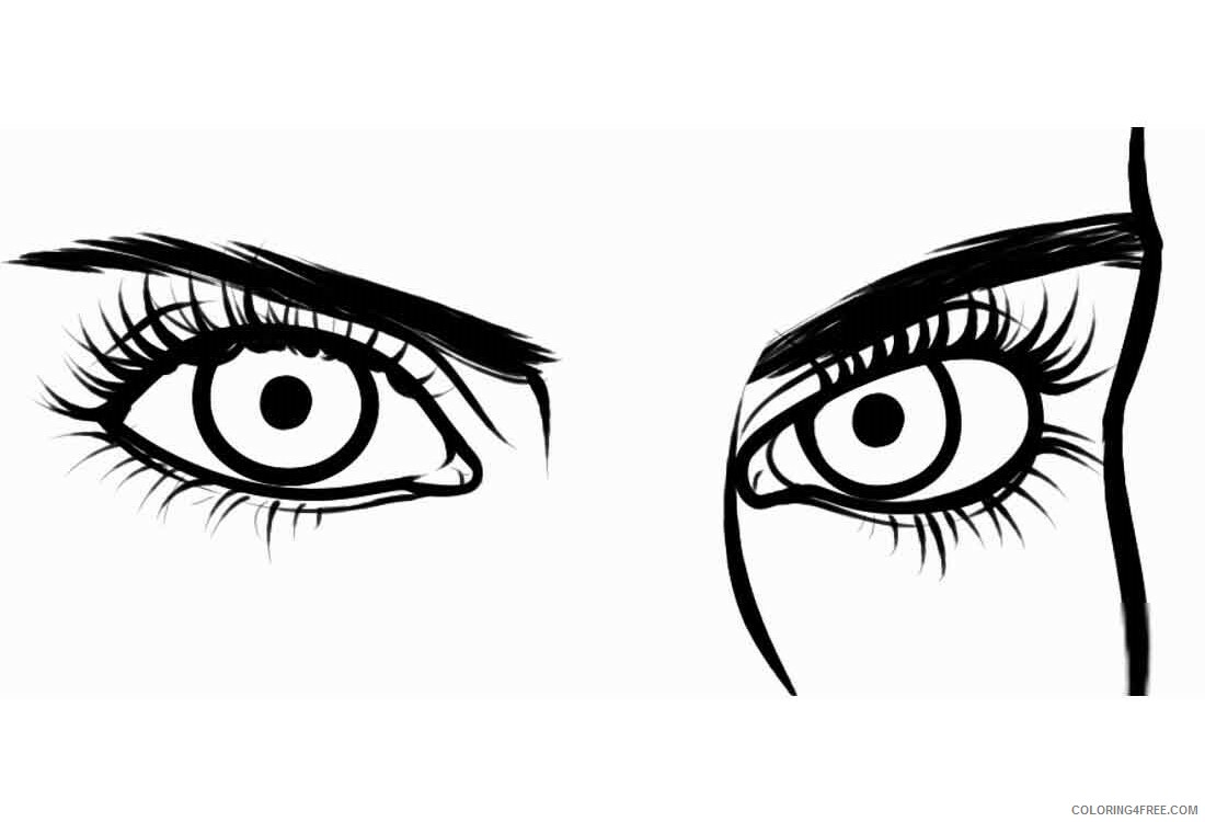 Eyes Coloring Pages For Kids Eyes 11 Printable 2021 178 Coloring4free Coloring4free Com