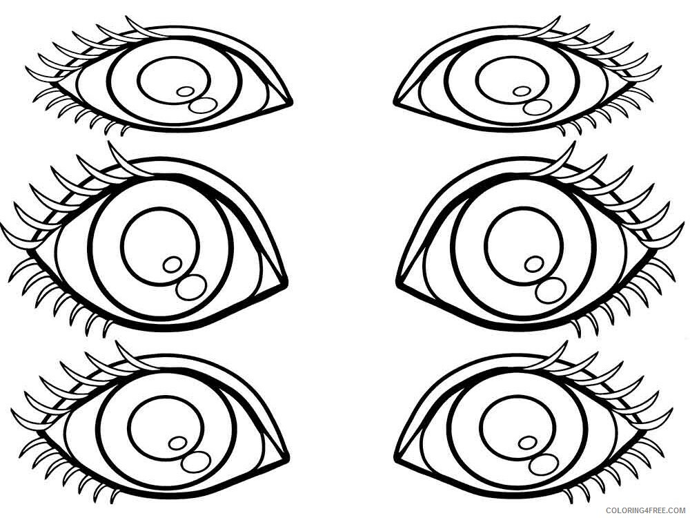 Eyes Coloring Pages for Kids eyes 9 Printable 2021 184 Coloring4free