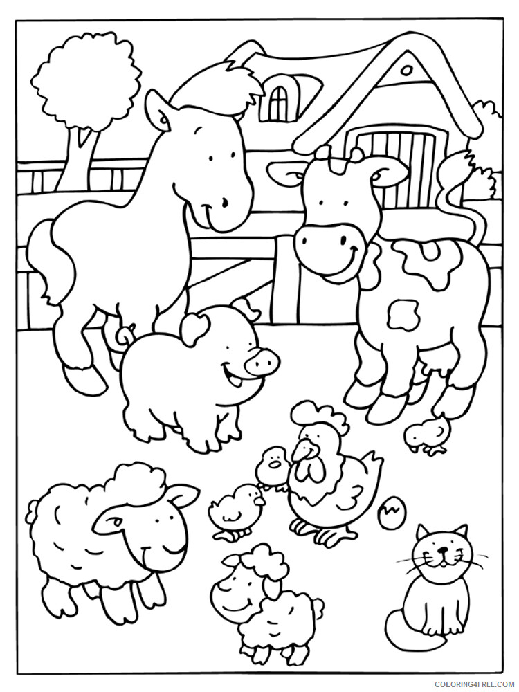 Farm Coloring Pages for Kids Farm 1 Printable 2021 197 Coloring4free