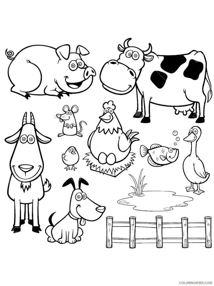 Farm Coloring Pages for Kids Farm 13 Printable 2021 200 Coloring4free