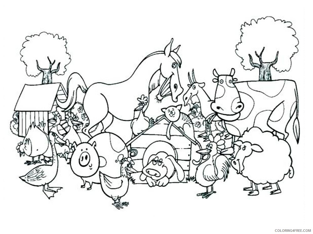 Farm Coloring Pages for Kids Farm 15 Printable 2021 202 Coloring4free