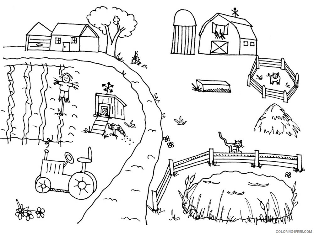 Farm Coloring Pages for Kids Farm 2 Printable 2021 204 Coloring4free