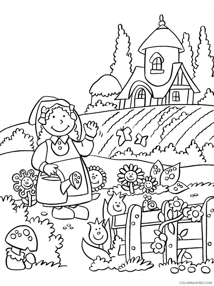 Farm Coloring Pages for Kids Farm 21 Printable 2021 205 Coloring4free