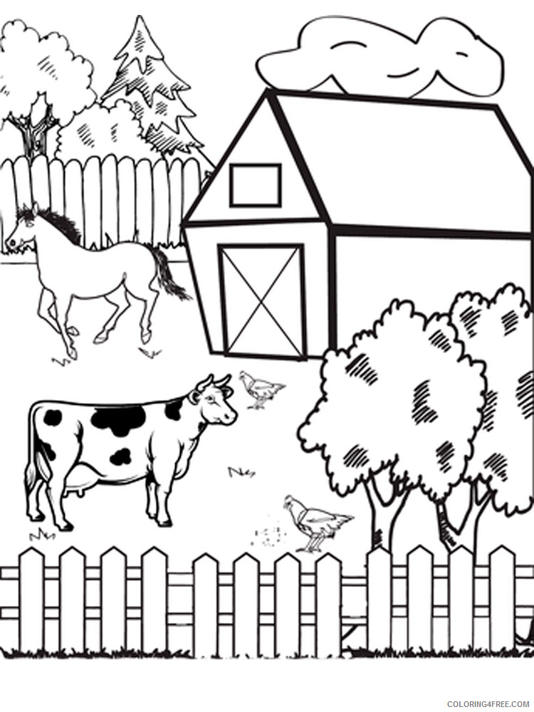 Farm Coloring Pages for Kids Farm 4 Printable 2021 208 Coloring4free