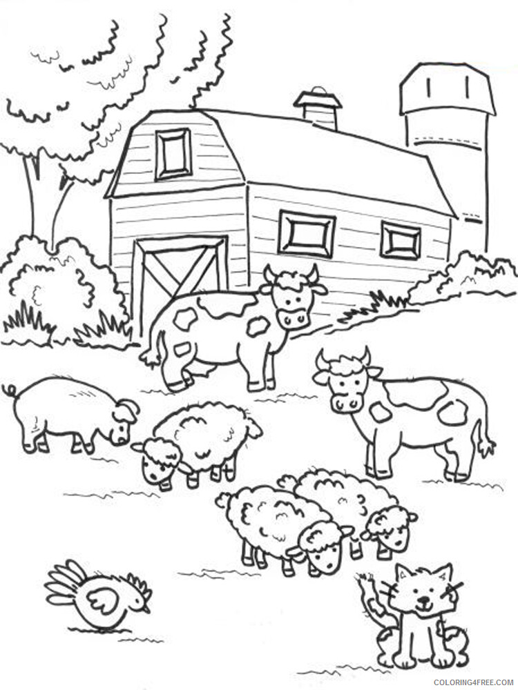 Farm Coloring Pages for Kids Farm 5 Printable 2021 209 Coloring4free