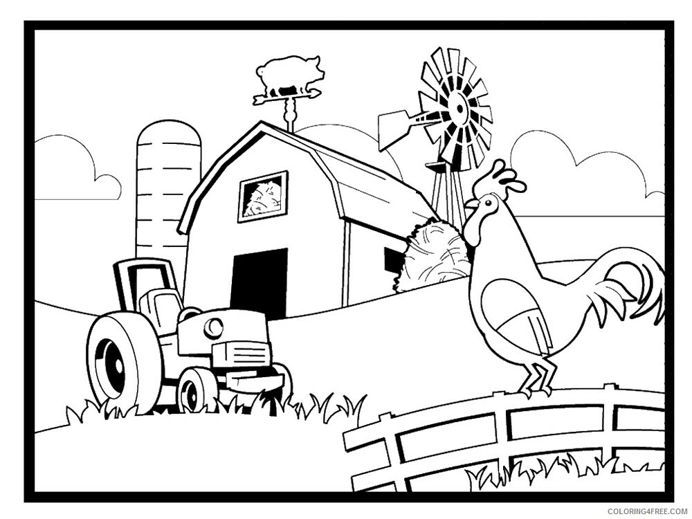 Farm Coloring Pages for Kids Farm 6 Printable 2021 210 Coloring4free