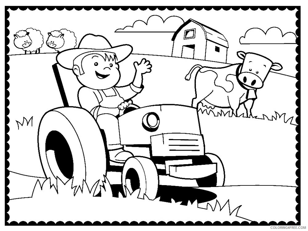 Farm Coloring Pages for Kids Farm 7 Printable 2021 211 Coloring4free