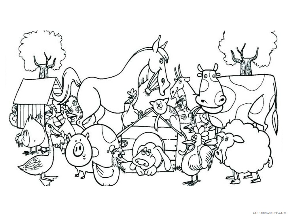 Farm Coloring Pages for Kids Farm 8 Printable 2021 212 Coloring4free