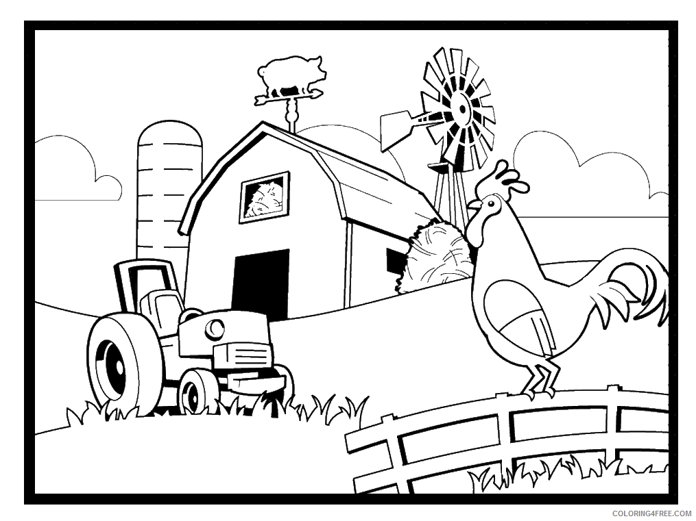 Farm Coloring Pages for Kids Farm Printable 2021 196 Coloring4free