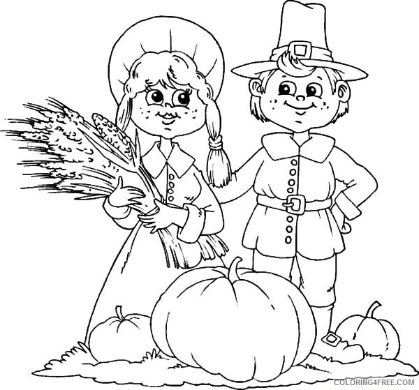 Farm Coloring Pages for Kids Farmer Couple Harvests Printable 2021 224 Coloring4free