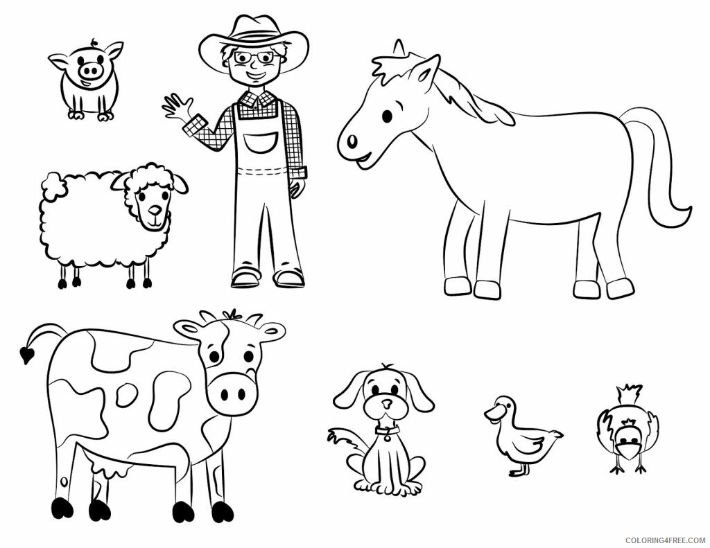 Farm Coloring Pages for Kids Farmer Printable 2021 223 Coloring4free