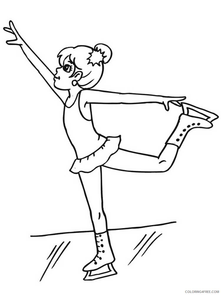 Figure Skater Coloring Pages for Kids figure skater 1 Printable 2021 229 Coloring4free