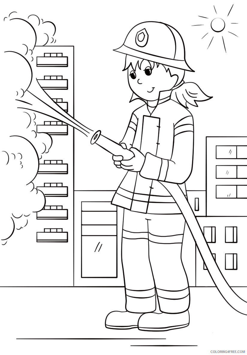 Firefighter Coloring Pages for Kids Fire Fighter Printable 2021 238 Coloring4free
