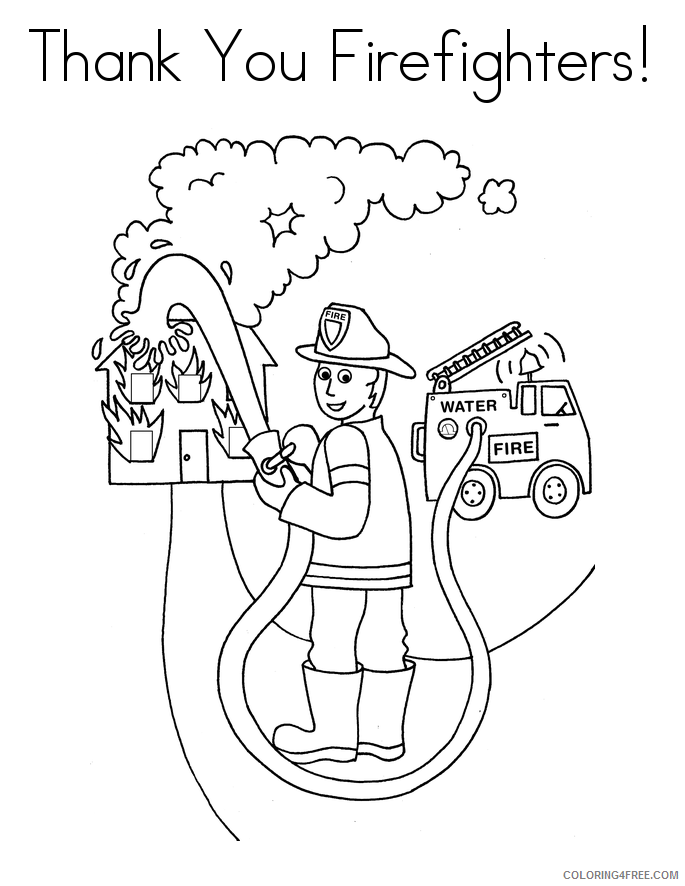 Firefighter Coloring Pages for Kids Fire Fighters Printable 2021 257 Coloring4free