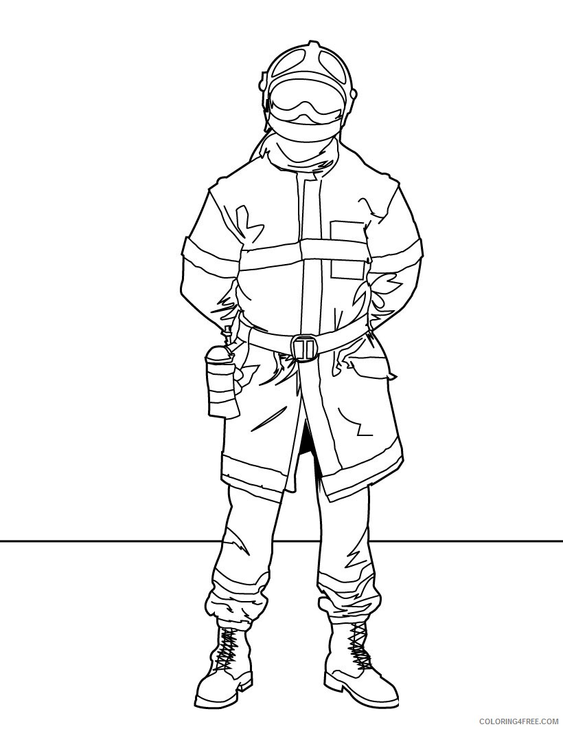Firefighter Coloring Pages for Kids Firefighter For Kids Printable 2021 243 Coloring4free