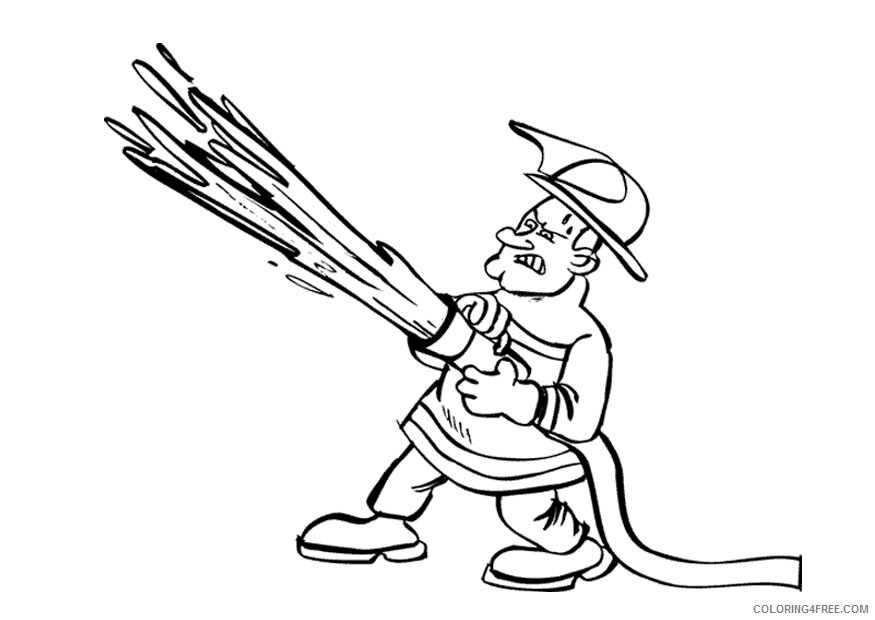 Firefighter Coloring Pages for Kids Firefighter Printable 2021 237 Coloring4free