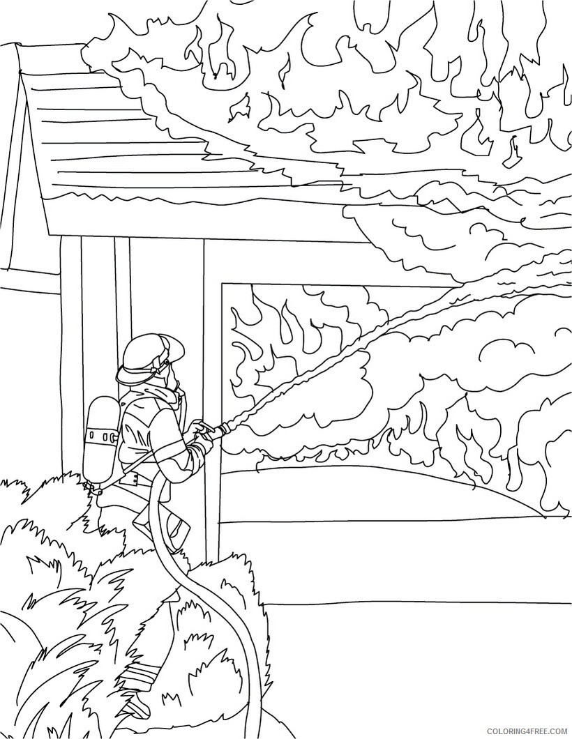 Firefighter Coloring Pages for Kids Free Firefighter For Kids Printable 2021 259 Coloring4free