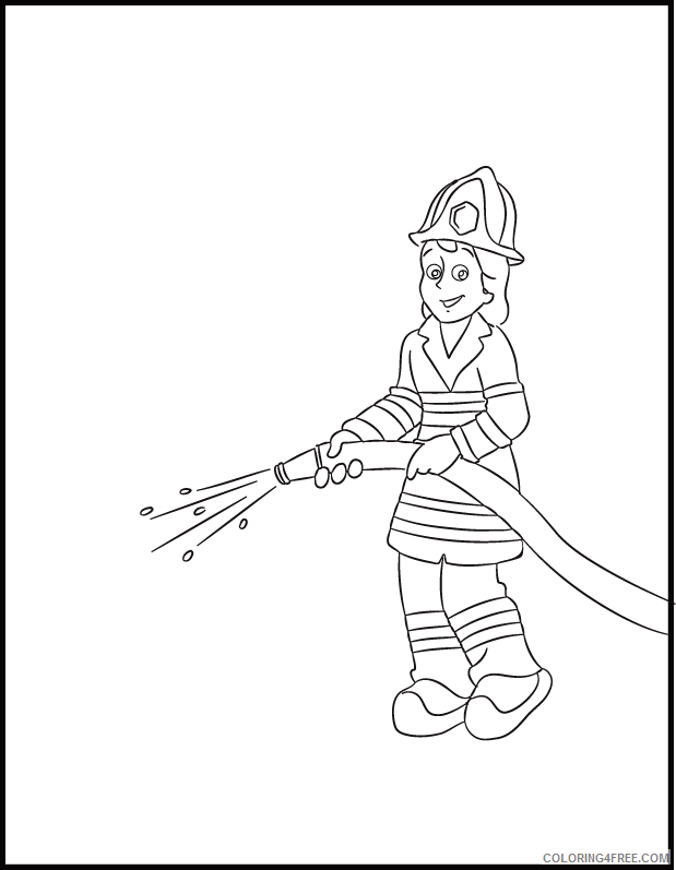 Firefighter Coloring Pages for Kids Free Firefighter Printable 2021 258 Coloring4free