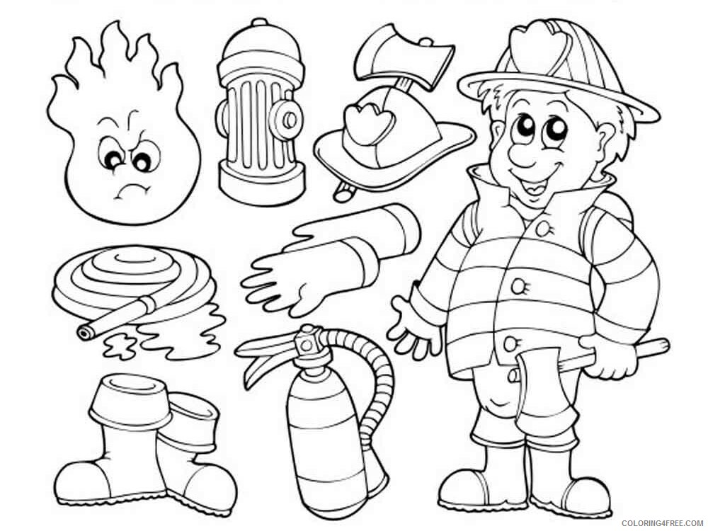 Firefighter Coloring Pages For Kids Firefighter 1 Printable 2021 239  Coloring4free - Coloring4Free.com