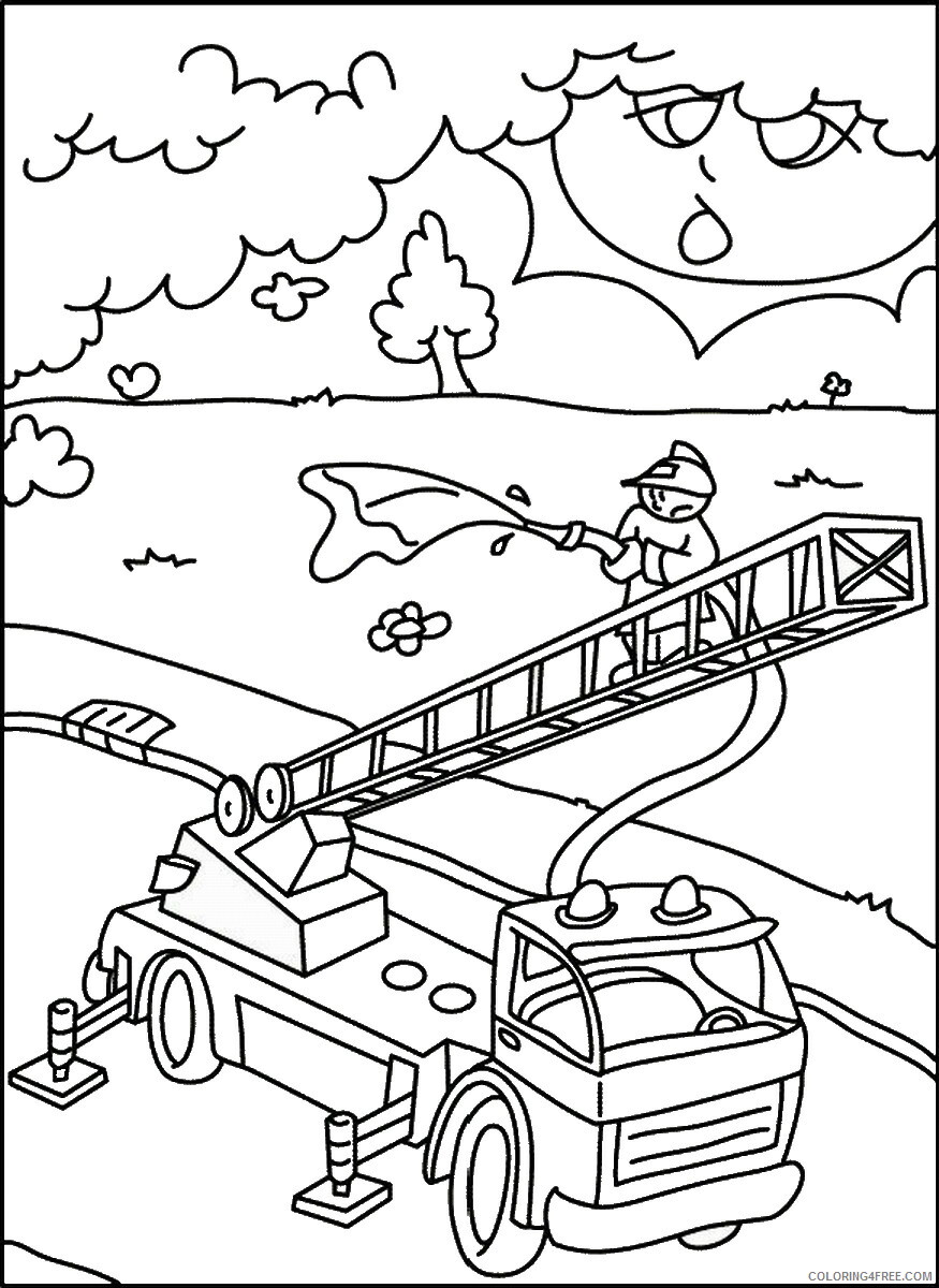 Firefighter Coloring Pages for Kids firefighters_04 Printable 2021 247 Coloring4free