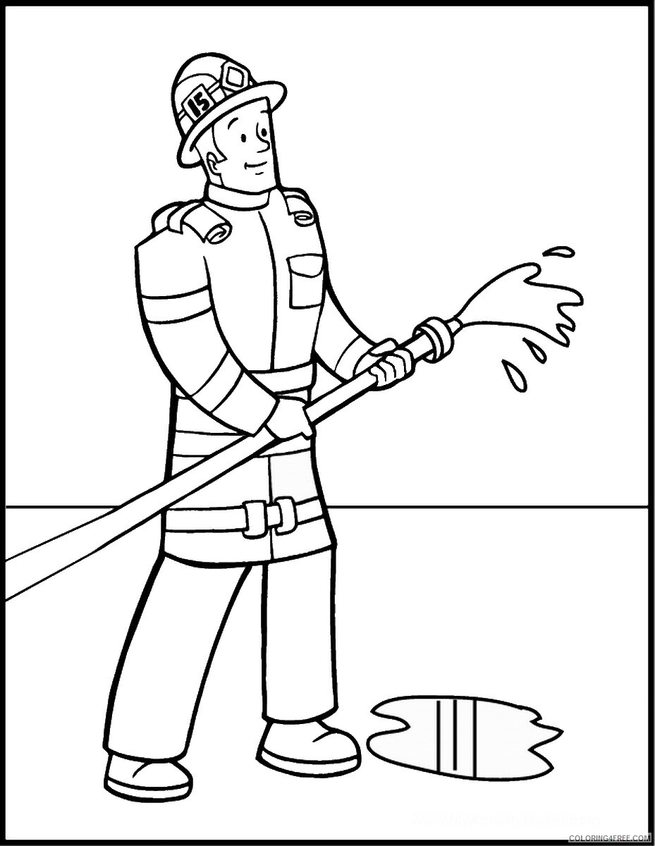 Firefighter Coloring Pages for Kids firefighters_28 Printable 2021 249 Coloring4free