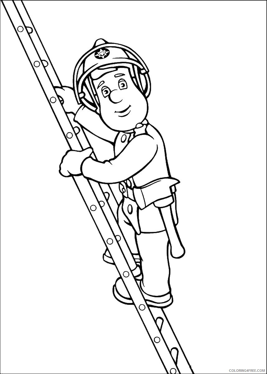Firefighter Coloring Pages for Kids firefighters_29 Printable 2021 250 Coloring4free