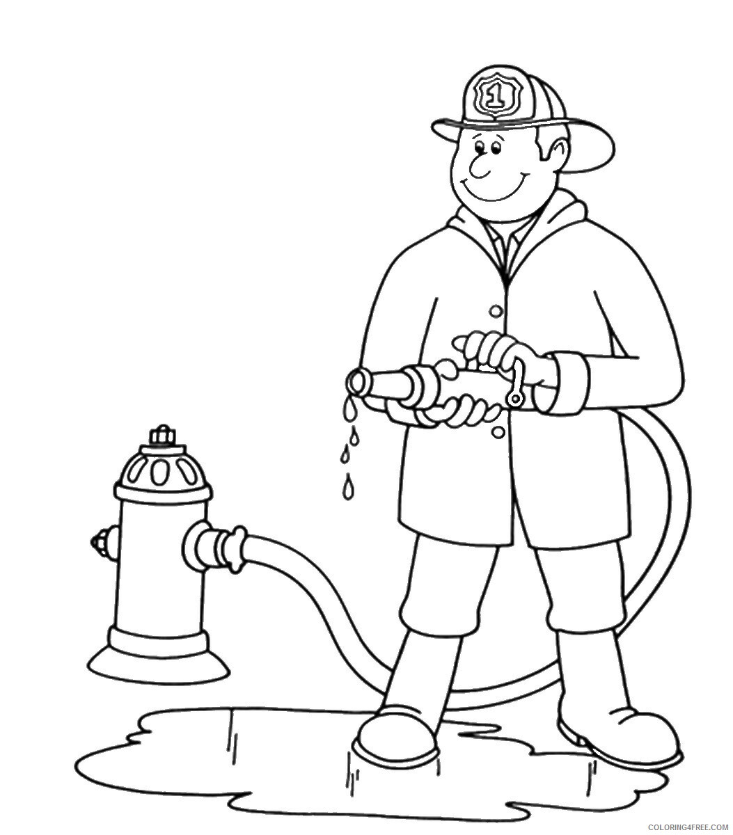 Firefighter Coloring Pages for Kids firefighters_31 Printable 2021 252 Coloring4free