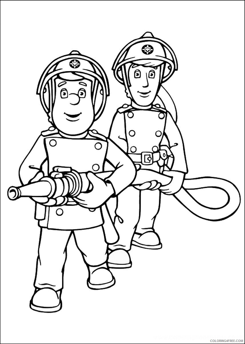 Firefighter Coloring Pages for Kids firefighters_34 Printable 2021 254 Coloring4free