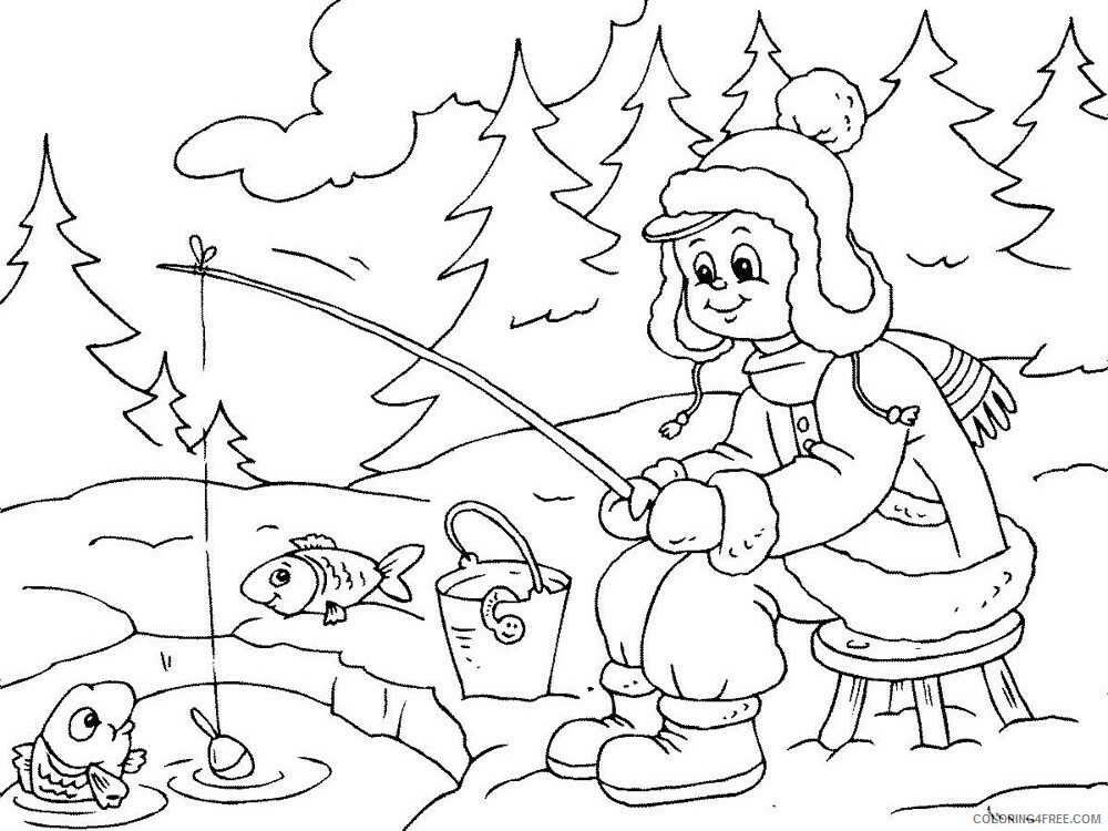 Fisherman Coloring Pages for Kids fisherman 2 Printable 2021 263 Coloring4free