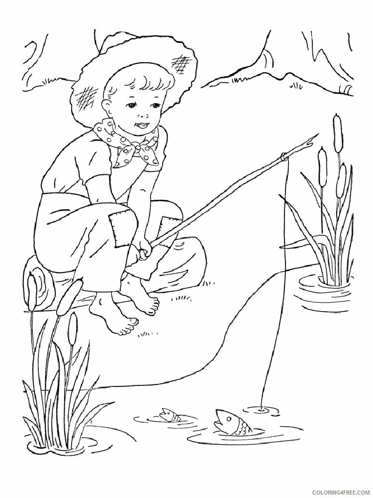 Fisherman Coloring Pages for Kids fisherman 6 Printable 2021 265 Coloring4free