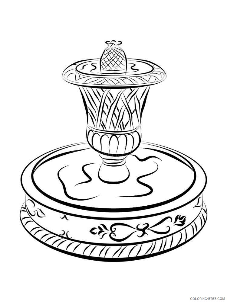 Fountain Coloring Pages for Kids fountain 3 Printable 2021 266 Coloring4free