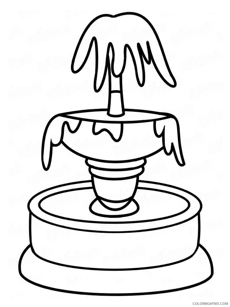 Fountain Coloring Pages for Kids fountain 4 Printable 2021 267 Coloring4free