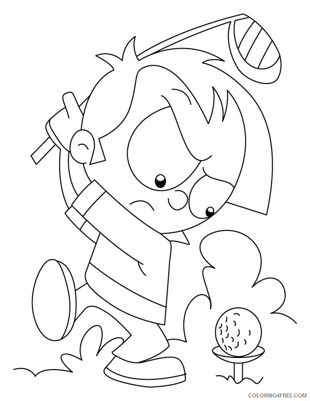 Golf Coloring Pages for Kids Angry Golfer Printable 2021 271 Coloring4free