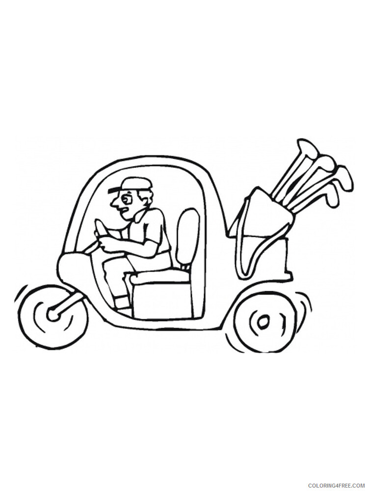 Golf Coloring Pages for Kids Golf 10 Printable 2021 286 Coloring4free