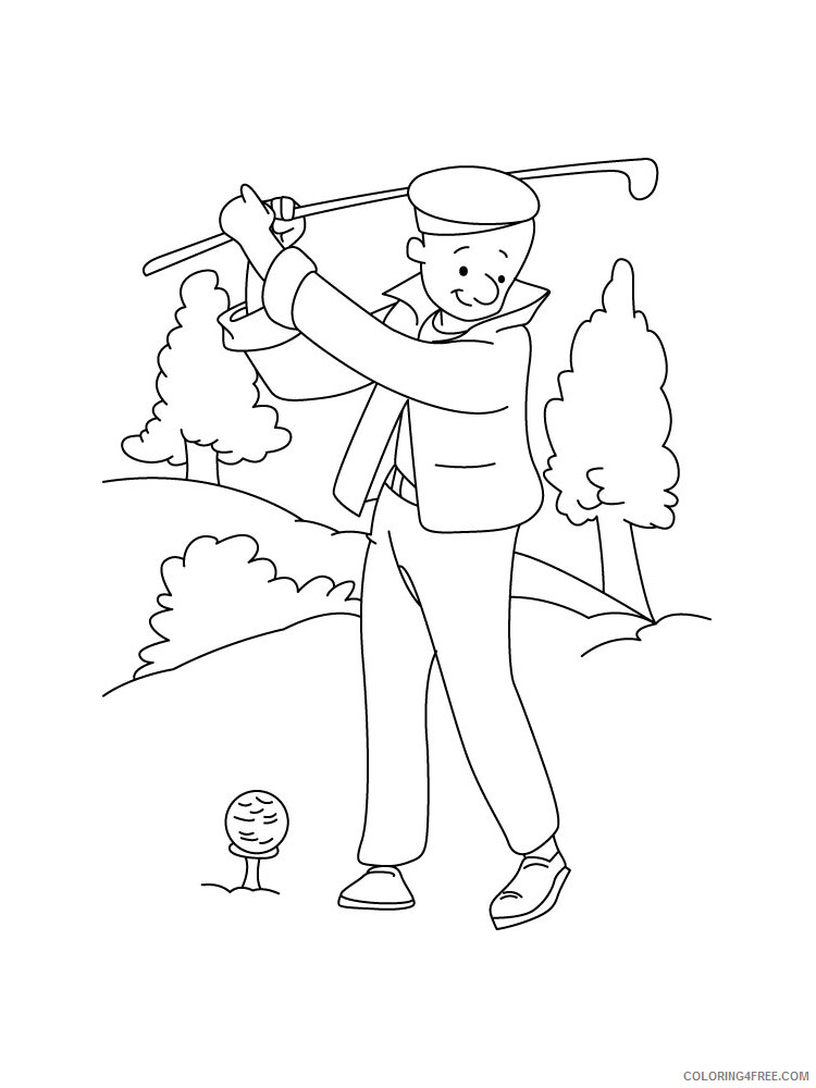 Golf Coloring Pages for Kids Golf 12 Printable 2021 287 Coloring4free