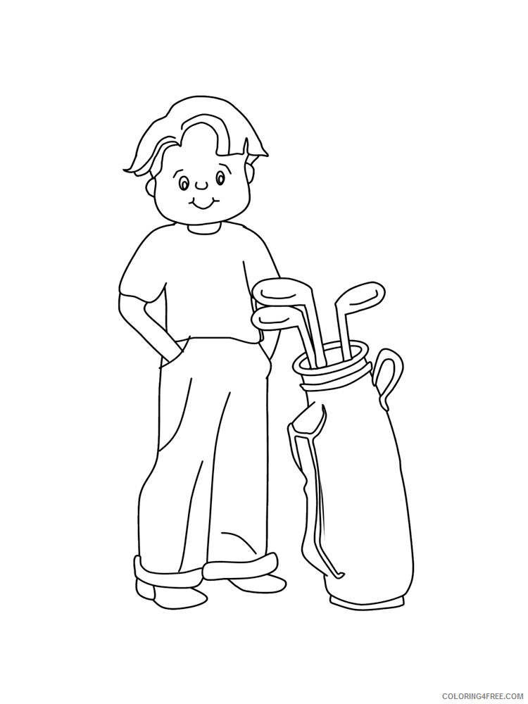 Golf Coloring Pages for Kids Golf 14 Printable 2021 289 Coloring4free