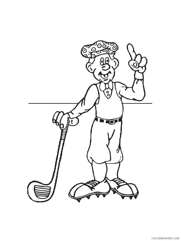 Golf Coloring Pages For Kids Golf 15 Printable 2021 290 Coloring4free Coloring4free Com