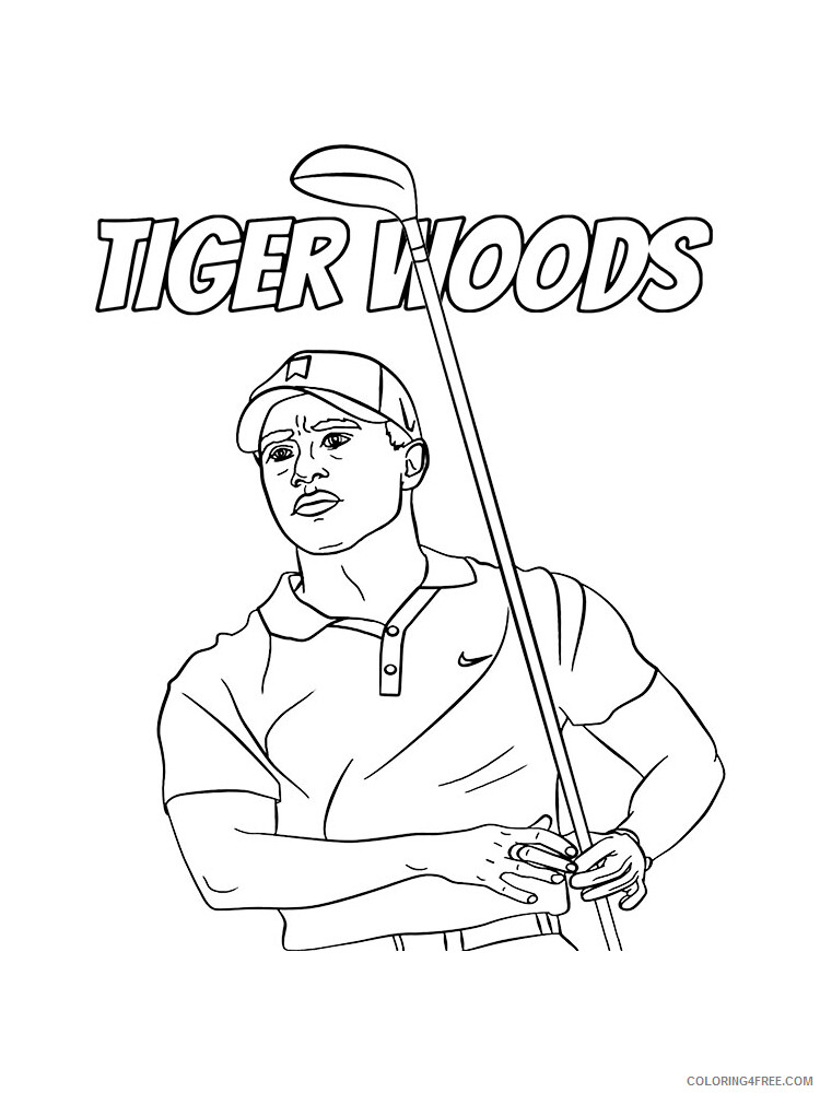 Golf Coloring Pages for Kids Golf 16 Printable 2021 291 Coloring4free