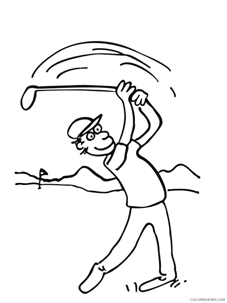 Golf Coloring Pages for Kids Golf 19 Printable 2021 294 Coloring4free