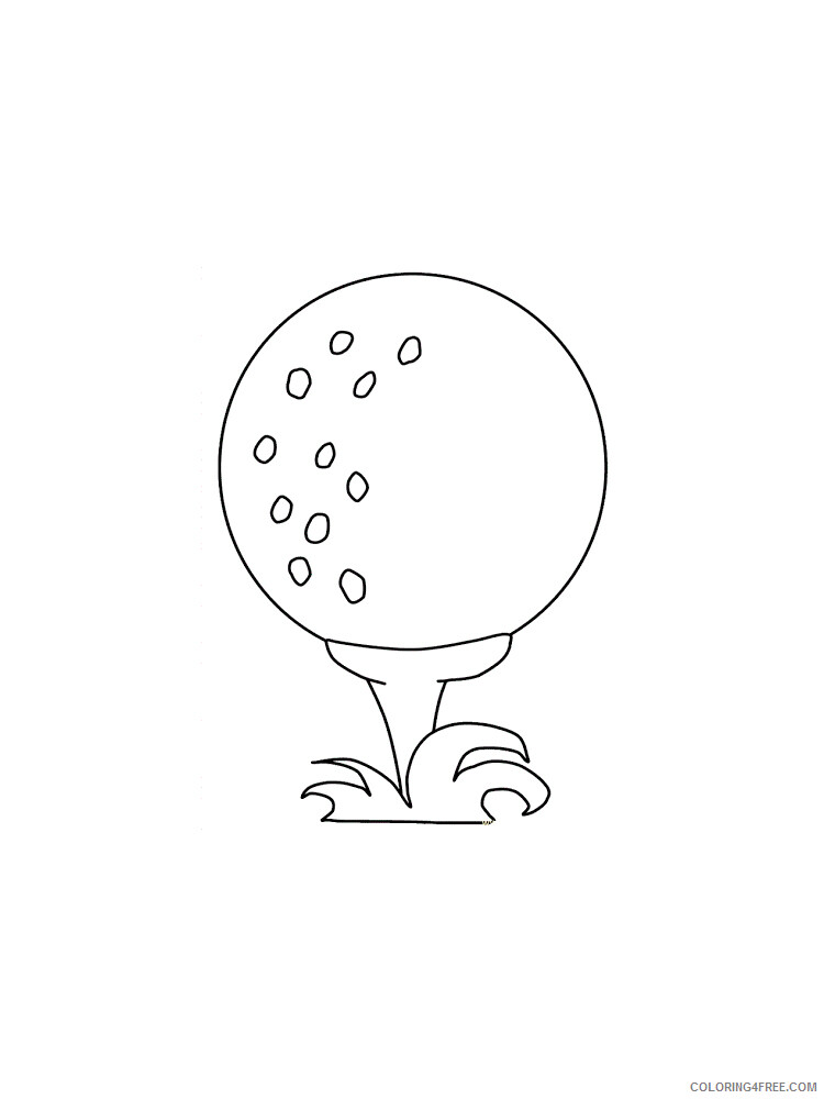 Golf Coloring Pages for Kids Golf 22 Printable 2021 297 Coloring4free