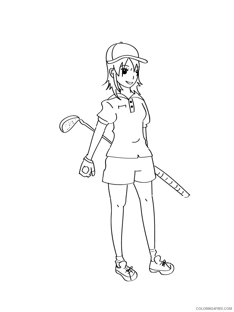 Golf Coloring Pages for Kids Golf 24 Printable 2021 299 Coloring4free