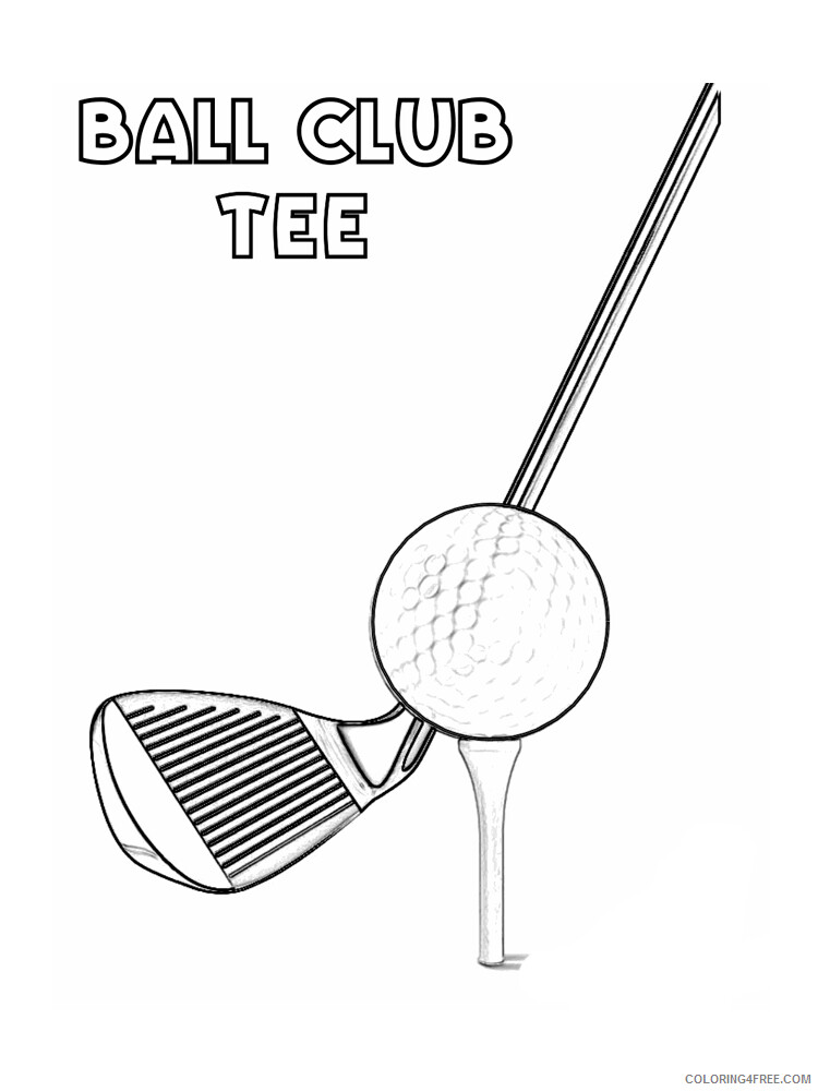 Golf Coloring Pages for Kids Golf 3 Printable 2021 300 Coloring4free