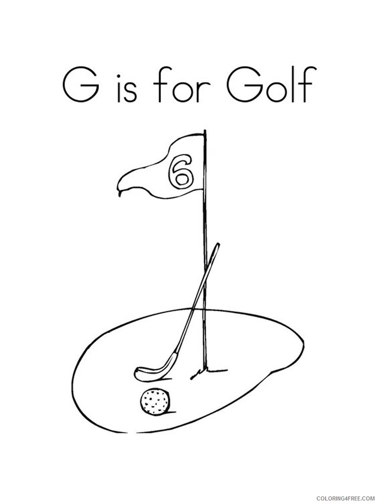 Golf Coloring Pages for Kids Golf 9 Printable 2021 306 Coloring4free