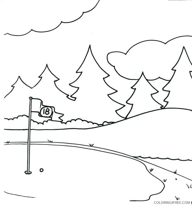 Golf Coloring Pages for Kids Golf Green Printable 2021 308 Coloring4free