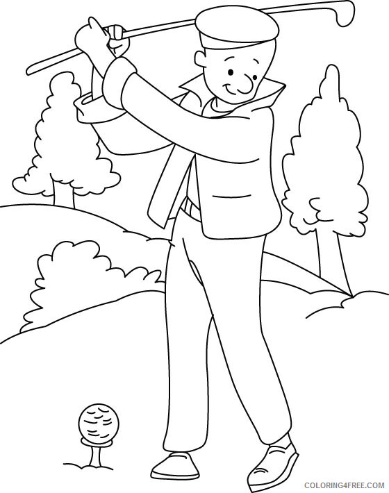 Golf Coloring Pages for Kids Golf Printable 2021 284 Coloring4free