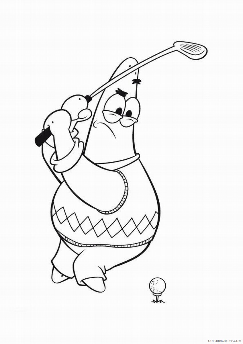 Golf Coloring Pages for Kids golf_coloring_7 Printable 2021 282 Coloring4free