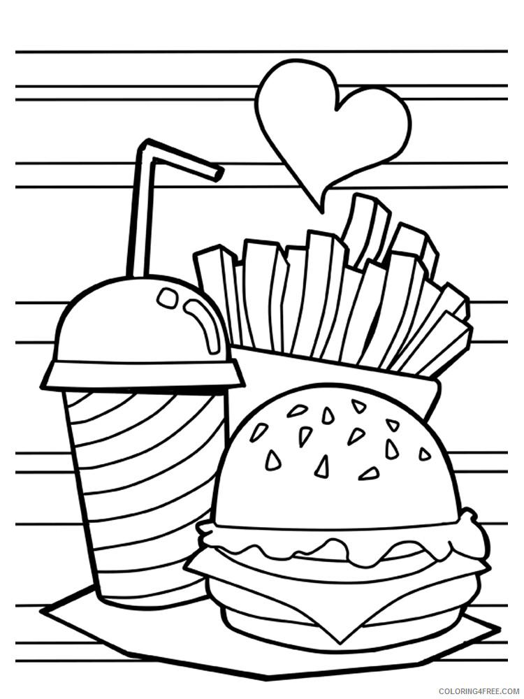 Hamburger Coloring Pages for Kids Hamburger 10 Printable 2021 312 Coloring4free