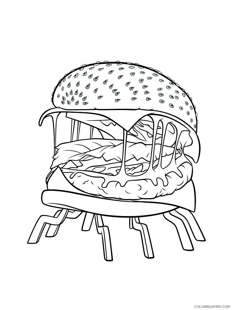 Hamburger Coloring Pages for Kids Hamburger 11 Printable 2021 313 Coloring4free