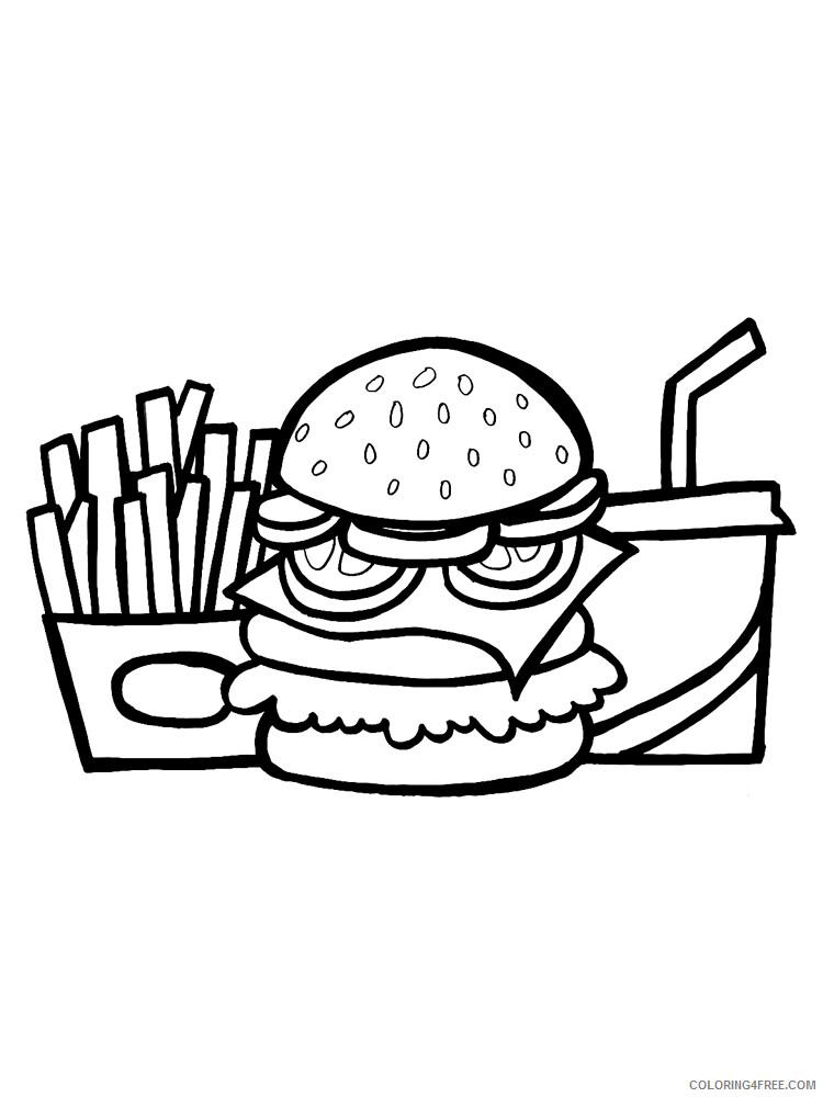 Hamburger Coloring Pages for Kids Hamburger 12 Printable 2021 314 Coloring4free